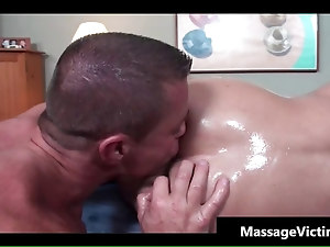 Super hot bodied guy gets oiled for gay