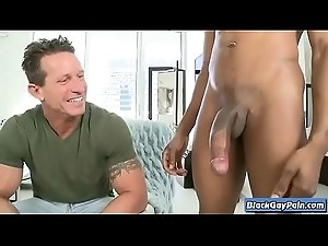 Its Gonna Hurt - Interracial Bareback Big Cock Gay Fucking - BlackGayPain.com 12