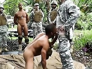 Army boys gay porn movie Jungle poke fest