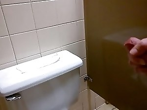 huge load in public restroom