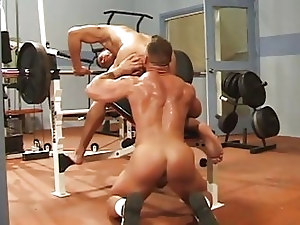 Muscle men gym fuck